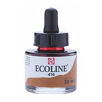 Краска акварельная жидкая Ecoline (416) Сепия 30мл Royal Talens с пипеткой