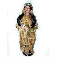 Кукла фарфоровая Индианка с ребенком (68 см)