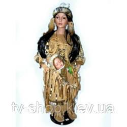 Порцелянова лялька Індіанка з дитиною (68 см)