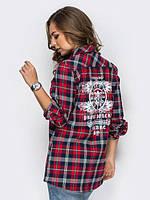 Женская рубашка в клетку с накаткой, фото 1