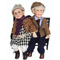 Куклы фарфоровые Дедушка с бабушкой