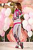 Женский цветочный спортивный костюм с капюшоном (1205-1209 svt), фото 4