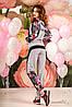 Женский цветочный спортивный костюм с капюшоном (1205-1209 svt), фото 3