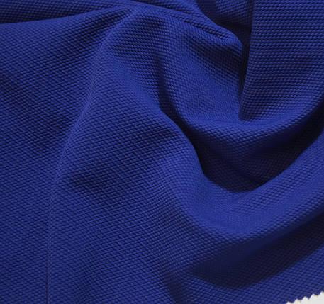 Трикотаж кукурудза синій електрик, фото 2