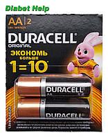 Батарейки Duracell AA (LR06) - 2 штуки