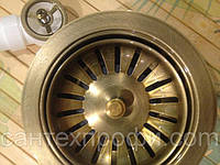 Горловина для кухонной мойки 114  LB Plast Italy Бронза