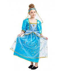 Карнавальный костюм ЗОЛУШКА для девочки 4,5,6,7,8,9 лет, детский маскарадный костюм ЗОЛУШКИ