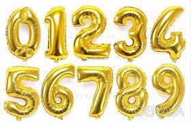 Фольгированные шары цифры ГРАДИЕНТ 80 - 85 см Китай