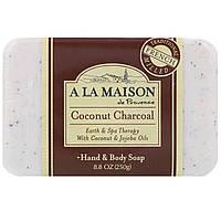 A La Maison de Provence, Кусоковое мыло для рук и тела, кокосовый уголь, 8,8 унц. (250 г)