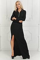 Платье в пол с разрезом / ангора / Украина 40-1529, фото 1