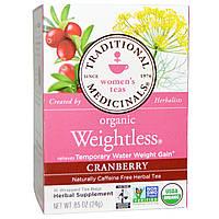 Traditional Medicinals, Чай для женщин, Органический чай для похудения с клюквой, Без кофеина, 16 чайных пакетиков, 0,85 унции (24 г)