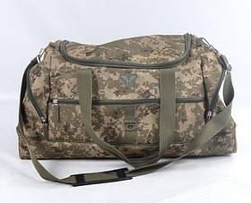 Воєнна дорожня сумка транспортна тривожна індивідуальна ЗСУ CARGO 50 літрів український піксель  ММ14
