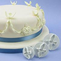 """Набор кондитерских плунжеров """"Голубь"""" 3 шт, украшения для торта"""