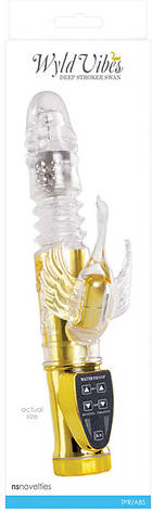 Вибратор Wyld Vibes Deep Stroker Swan, золотой, фото 2