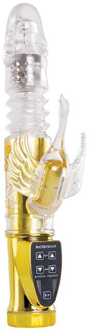 Вибратор Wyld Vibes Deep Stroker Swan, золотой