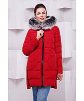 Женская зимняя куртка парка от производителя 46-54 красный 74a43948700e2