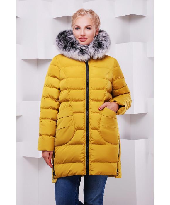 Молодежная зимняя женская куртка парка  46-54 песочный
