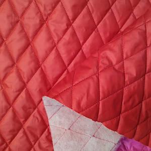 Плащевка стеганная на синтапоне красная (ромбик)