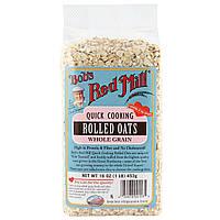 Bob's Red Mill, Овсяные хлопья быстрого приготовления, цельное зерно, 16 унций (453 г)