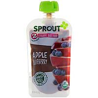 Sprout Organic, Детское питание, этап 2, яблоко, черника, 113 г