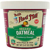 Bob's Red Mill, Organic Oatmeal Cup, Cranberry Orange with Flax & Chia, 2.47 (70 g)