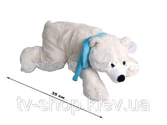 Ведмідь білий в шарфі (35 см,45 см)