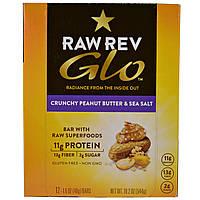 Raw Revolution, Glo, хрустящее арахисовое масло и морская соль, 12 батончиков, 1,6 унции (46 г)