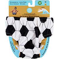 Charlie Banana, Многоразовый подгузник для плавания, футбольный узор,  большого размера, 1 подгузник fe9f3299d5b
