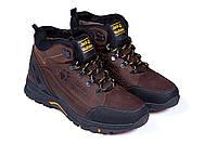Мужские зимние кожаные ботинки Jack Wolfskin реплика, фото 1