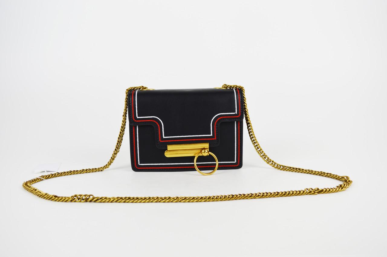 bb47fdff1235 Черная миниатюрная сумка с кольцом 6053 - КРЕЩАТИК - интернет магазин обуви  в Александрии