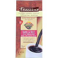 Teeccino, Травяной кофе цикорий, средней обжарки, без кофеина, ванильорех, 312 г, официальный сайт