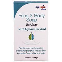 Hyalogic LLC, Мыло для лица и тела, С гиалуроновой кислотой, 4 унции (113,4 г)