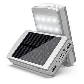 Power Bank 50000 mAh с солнечной батареей и Led панелью silver