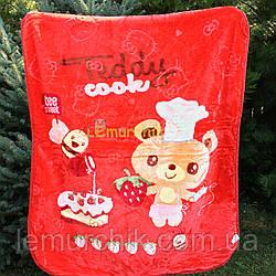 Плед двухсторонний детский мягкий (микрофибра утепленная) 115х110 см, Teddy, цвет на выбор