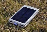 Power Bank 50000 mAh с солнечной батареей и Led панелью silver, фото 7