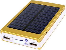 Power Bank 50000 mAh с солнечной батареей и Led панелью gold