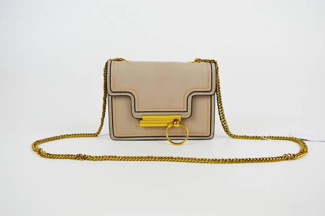 Бежевая миниатюрная сумка с кольцом 6053, фото 2