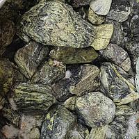 """Мраморная галька зеленая греческая """"Рептилия"""" эксклюзив 20-40 мм, фото 1"""