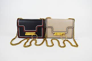 Бежевая миниатюрная сумка с кольцом 6053, фото 3