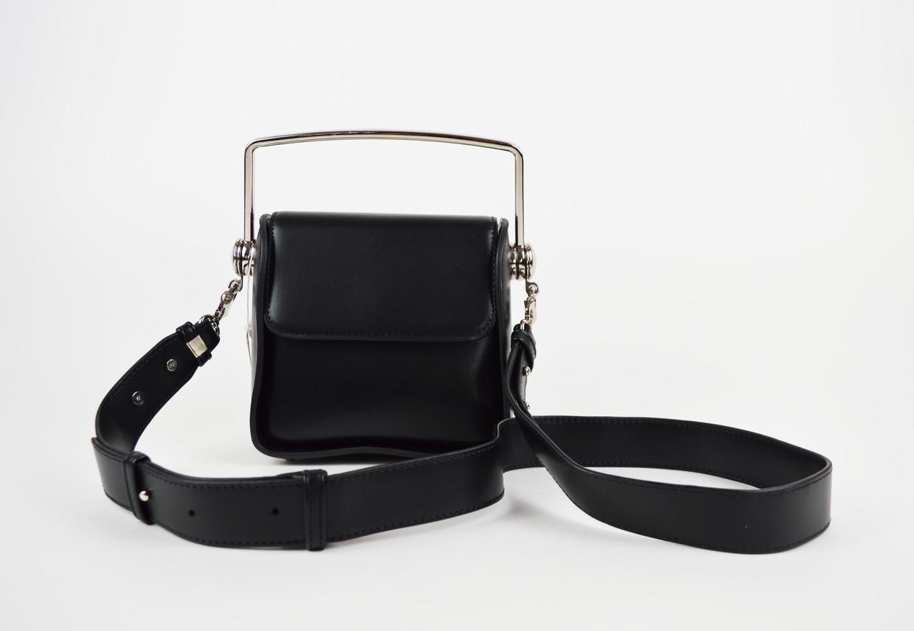 Черная миниатюрная сумка с ручкой 6037