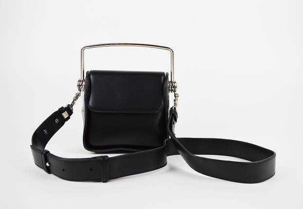 Черная миниатюрная сумка с ручкой 6037, фото 2