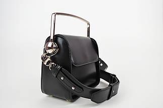 Черная миниатюрная сумка с ручкой 6037, фото 3