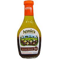 Annie's Naturals, Уксусная заправка с шитике и кунжутом, 16 жидк. унц. (473 мл)