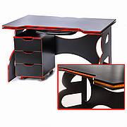 Стол детский, подростковый с тумбой Barsky Game RED LED HG-05/CUP-05/ПК-01