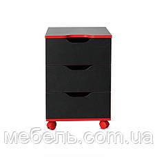 Стол детский, подростковый с тумбой Barsky Game RED LED HG-05/CUP-05/ПК-01, фото 2