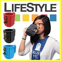 Чашка-конструктор Lego брендовая 350мл, фото 1