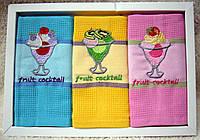 Полотенца кухонные вафельные - Merpatti - Blendit - 3шт. 45*70 -100% хлопок - Турция -