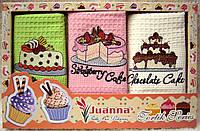 Полотенца кухонные вафельные Juanna Tortik (kod 1394)