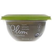 Plum Organics, Детское питание, Этап 2, яблоко, шпинат и авокадо, 102 г