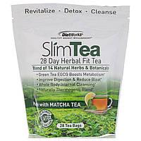 DietWorks, Чай для похудения, 29-дневный травяной чай для здоровья, мед и лимон, 28 пакетиков